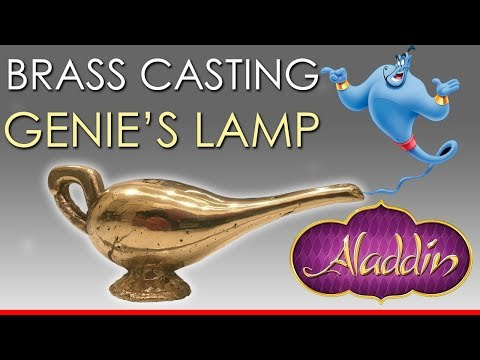 Melting BRASS Bullet Shells into Aladdins Genie Lamp
