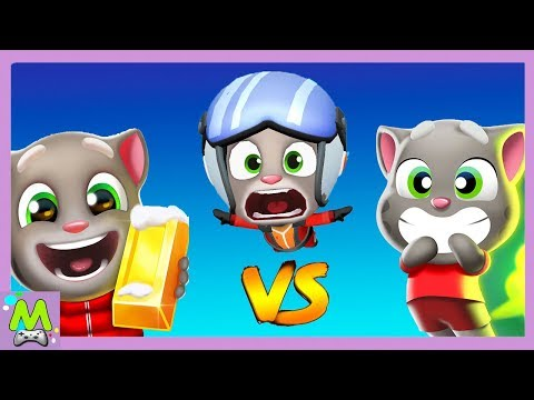 Том за Золотом vs Воздушный Том vs Газики Говорящего Тома.Бегай Прыгай и Летай.Кто Круче