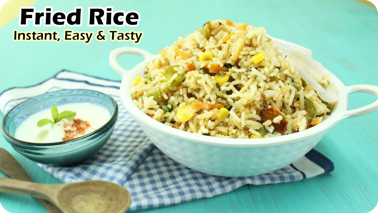 Veg fried rice recipe restaurant style instant fried rice recipe veg fried rice recipe restaurant style instant fried rice recipe how to make fried rice ccuart Image collections