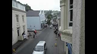 Olympic Torch in Laxey, Isle of Man