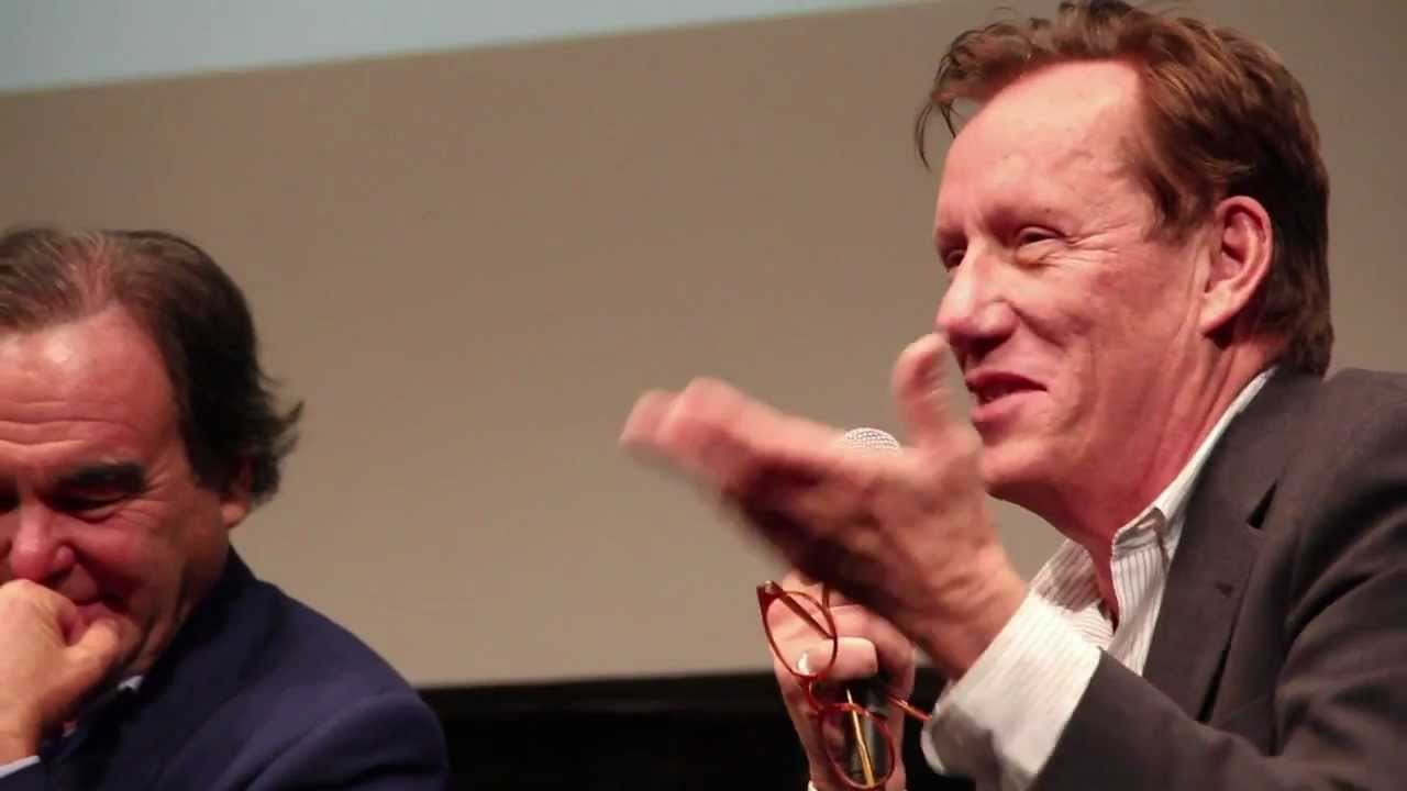 Oliver Stone and James Woods at the 49th New York Film Festival