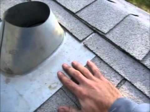 How To Install A Roof Vent Flashing For A Furnace Chimney Youtube