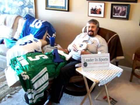 Roman Gabriel signs the jerseys for LeaderInSports.com
