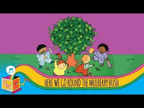 Here We Go 'Round the Mulberry Bush | Nursery Rhyme | Karaoke