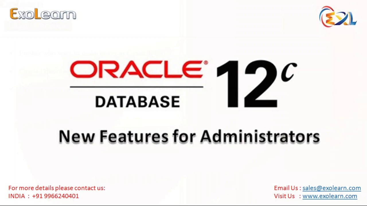 Oracle Database 12c Oracle Dba Tutorial Oracle Dba Certification