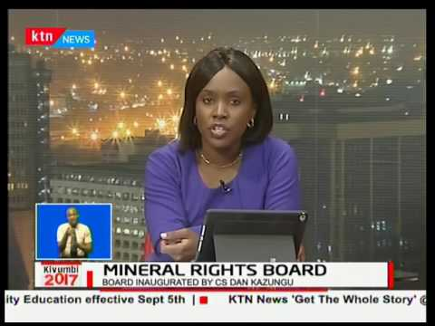 Mining CS Dan Kazungu Inaugurates Mineral Rights Board