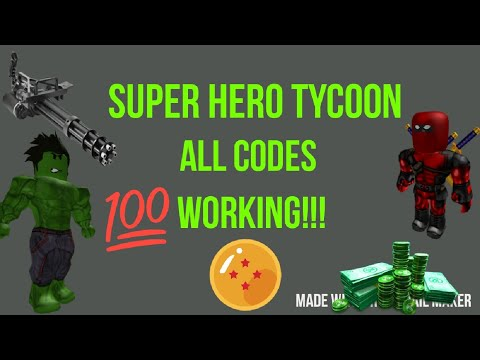 [ROBLOX] Super Hero Tycoon CODES!!! 2019 - YouTube