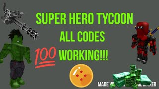 [ROBLOX] Super Hero Tycoon ALL HIDDO CODES!!! 2019
