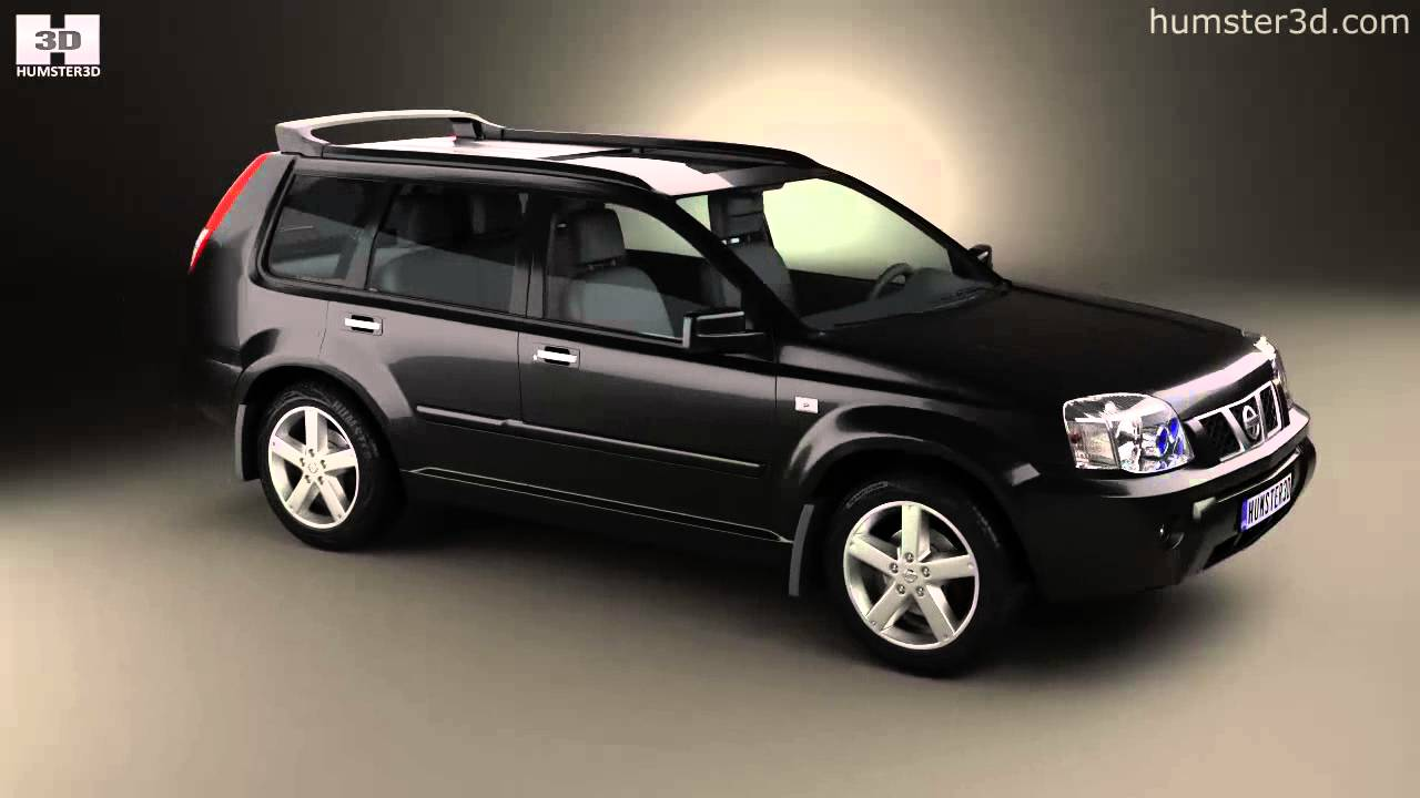 nissan x trail 2004 by 3d model store youtube. Black Bedroom Furniture Sets. Home Design Ideas