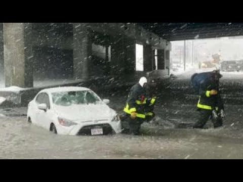 Rivers of ice and slush fill Boston streets