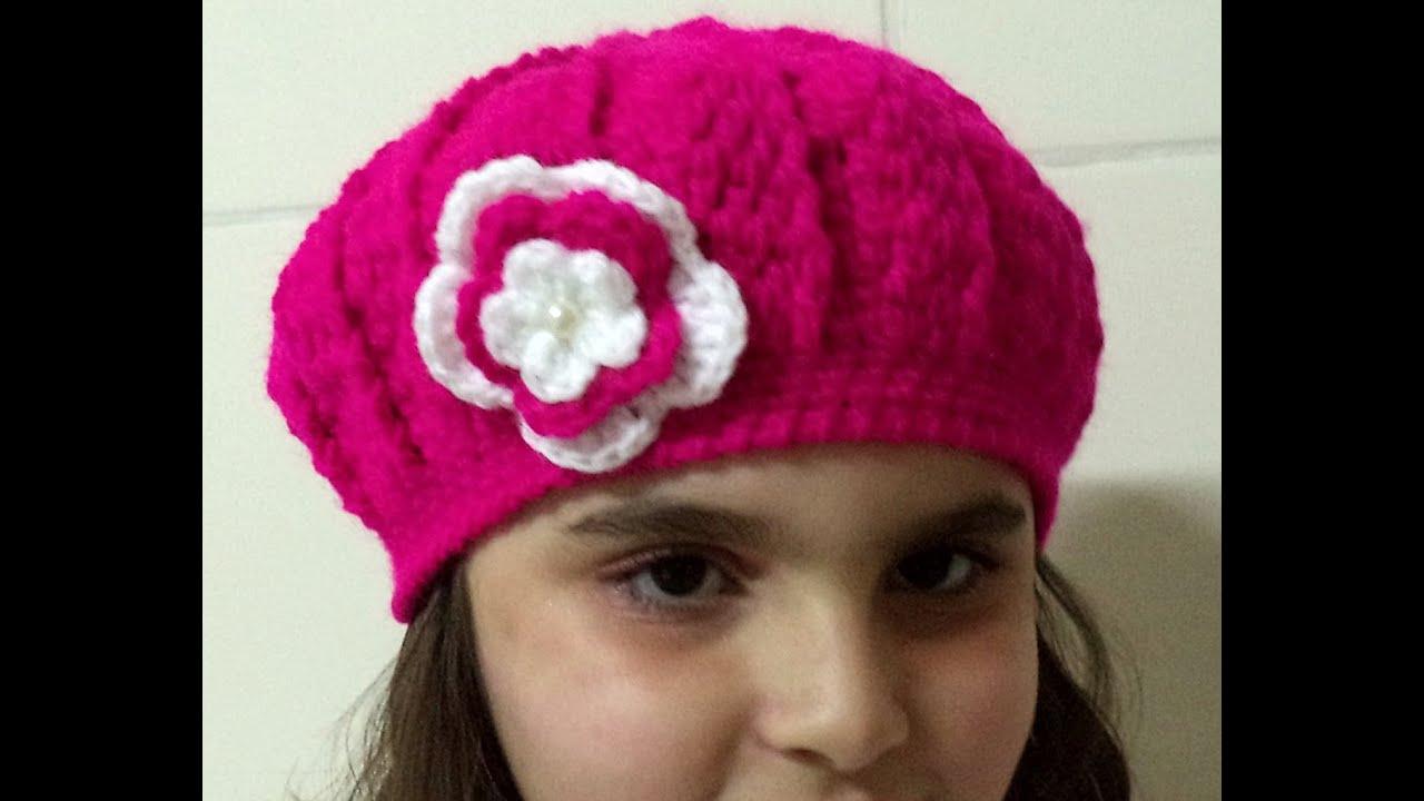 0d6199bd8beaf Diy - Boina em Crochê Ingrid - 18 cm altura 54 cm circunferência - Graça  Tristão