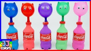 5 Bottles Balloons With Beads And Balls Pj Masks Surprise Learn Colors [Jj Colors]