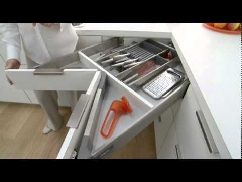 Corner Drawer Kitchen Cabinet Island In The Blum Space - Youtube