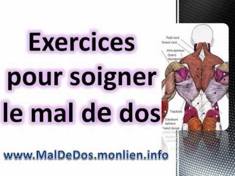 Exercices pour soigner le mal de dos youtube for Exercices pour interieur des cuisses