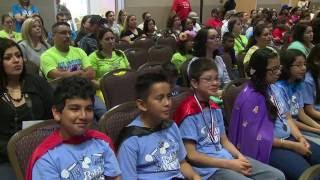 more than 400 students compete during the fwisd and tcu battle of the books