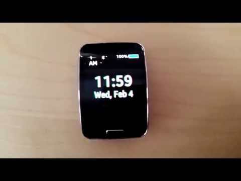 Glitch clock for Samsung Gear S (ANIMATED)