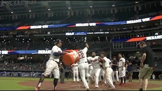 Jason Kipnis hits a walk off homer vs the Royals and the Indians celebrate, a breakdown thumbnail