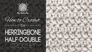 how to crochet the herringbone half double crochet
