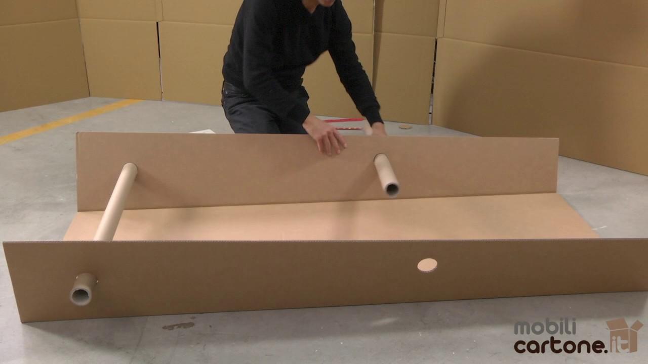 Istruzioni di montaggio pannello mobili in cartone youtube for Pannelli di cartone