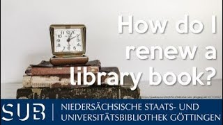 How do I renew a library book