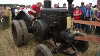 Traktortreffen Aspach 2012 - Dreschen mit Lanz Bulldog auf dem Acker - Teil 1/2