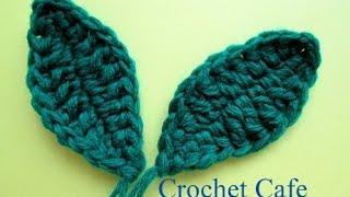كروشيه ورقة شجر | كروشيه كافيه | Crochet Cafe