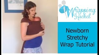 How to use a Stretchy Wrap with a Newborn (Moby Wrap, Boba Wrap, etc):  Pocket Wrap Cross Carry