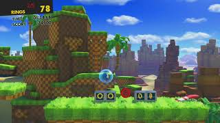 Sonic Forces-  Stage 10 All Red Rings Green Hill (Green HIll)