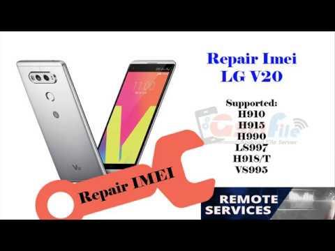 Repair Imei Blacklist LG V20 AT&T H910 Success via Remote USB cable