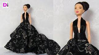 Вечернее платье для куклы Барби с открытой спиной. How to make dress for Barbie dolls