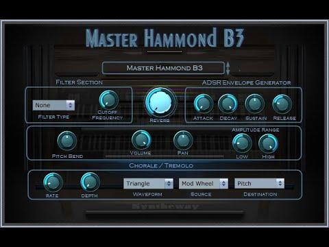 Syntheway Master Hammond B3 Organ VST Plugin (Virtual Musical Instrument) Windows, Mac OS X