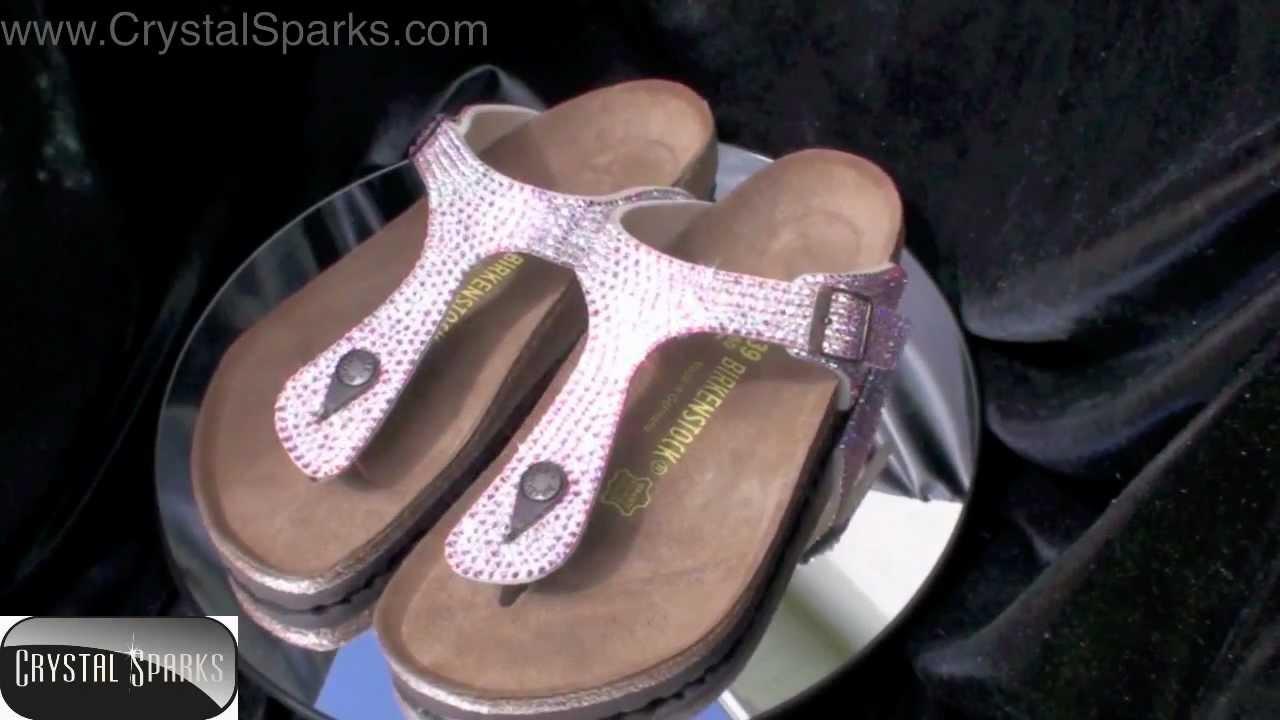 3ed0b5c72e7a1 Custom Crystal Birkenstock Sandals Made with Swarovski ™ Elements AB Strass