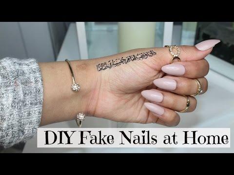 DIY Fake Nails at home | Sebinaah