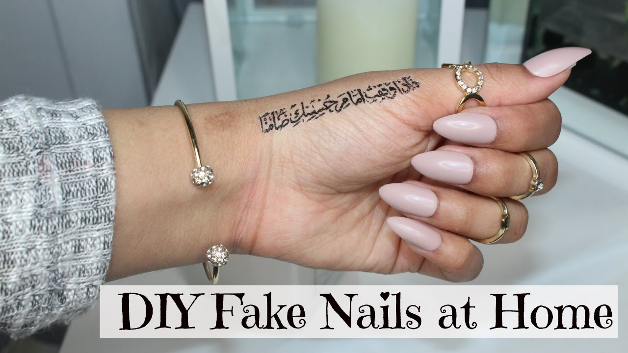 diy fake nails home sebinaah