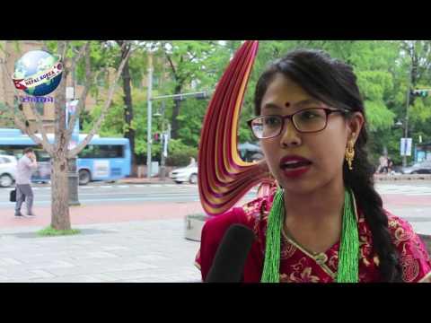 About nepali student in south korea   Aarjana Shrestha Interview  