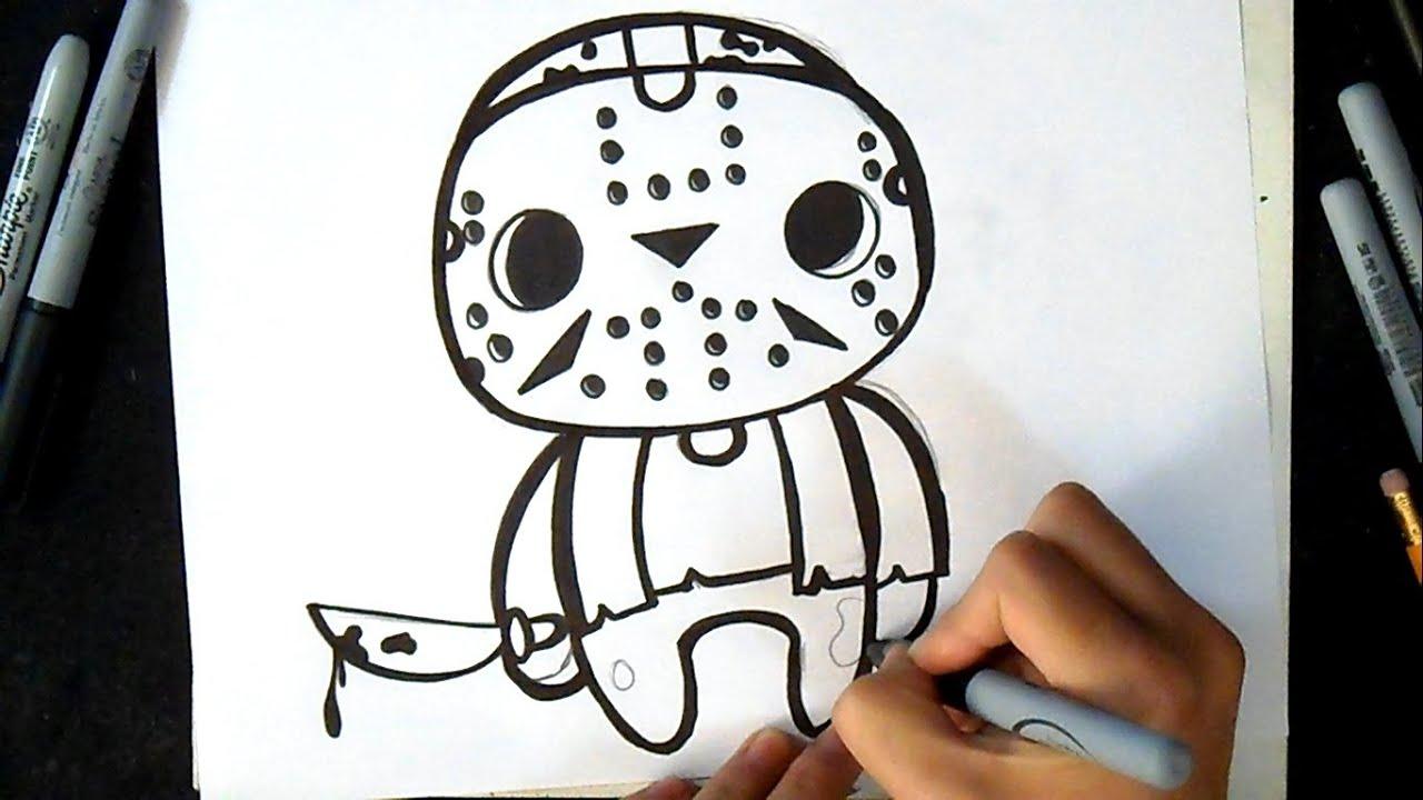 Como Desenhar Voorhees Jason Grafite Youtube