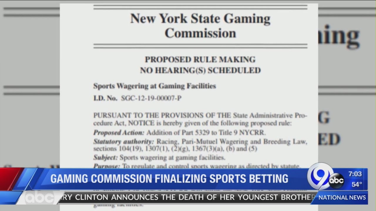 Gaming Commission Finalizing Sports Betting