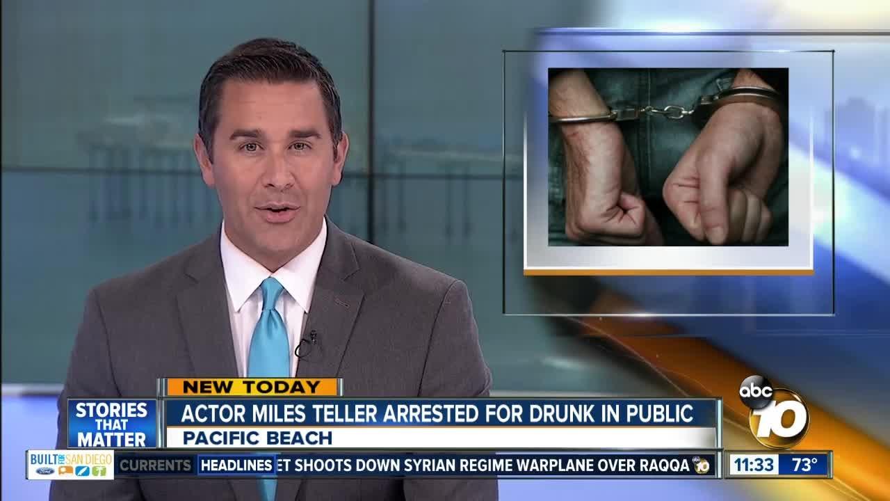 Miles Teller arrested for public drunkenness