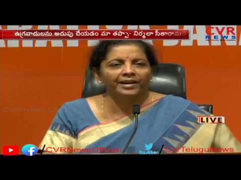 Defence Minister Nirmala Sitharaman comments on Congress Party Manifesto   CVR News
