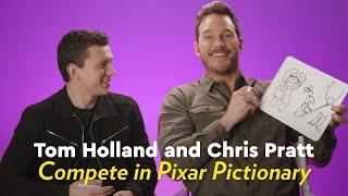 Tom Holland and Chris Pratt Compete in Pixar Pictionary | POPSUGAR Pictionary