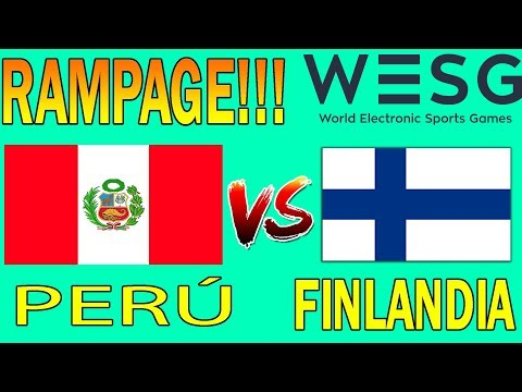 TEAM PERÚ VS FINLANDIA   RAMPAGE!!   ÚLTIMO DOTA   WESG   DOTA 2
