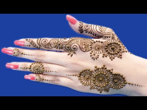 Beautiful Easy Mehndi Designs for Back Hands | Ornamental Mehndi Design 2018 by Sonia Goyal #244