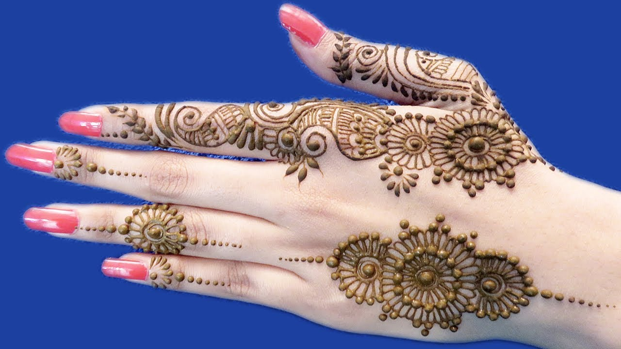 Beautiful Easy Mehndi Designs For Back Hands Ornamental Mehndi