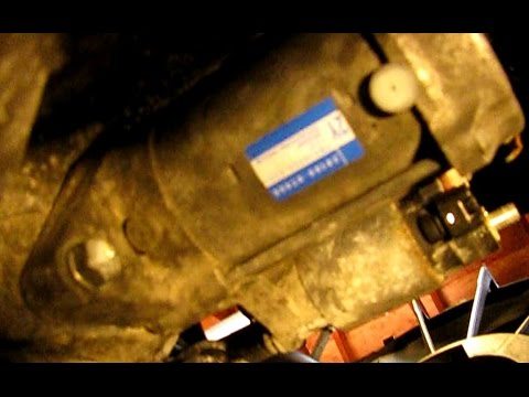 How to replace the starter in a 18L Toyota Corolla  YouTube