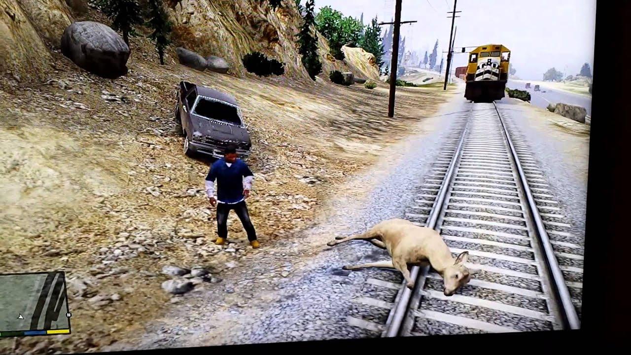 Train Hitting Deer