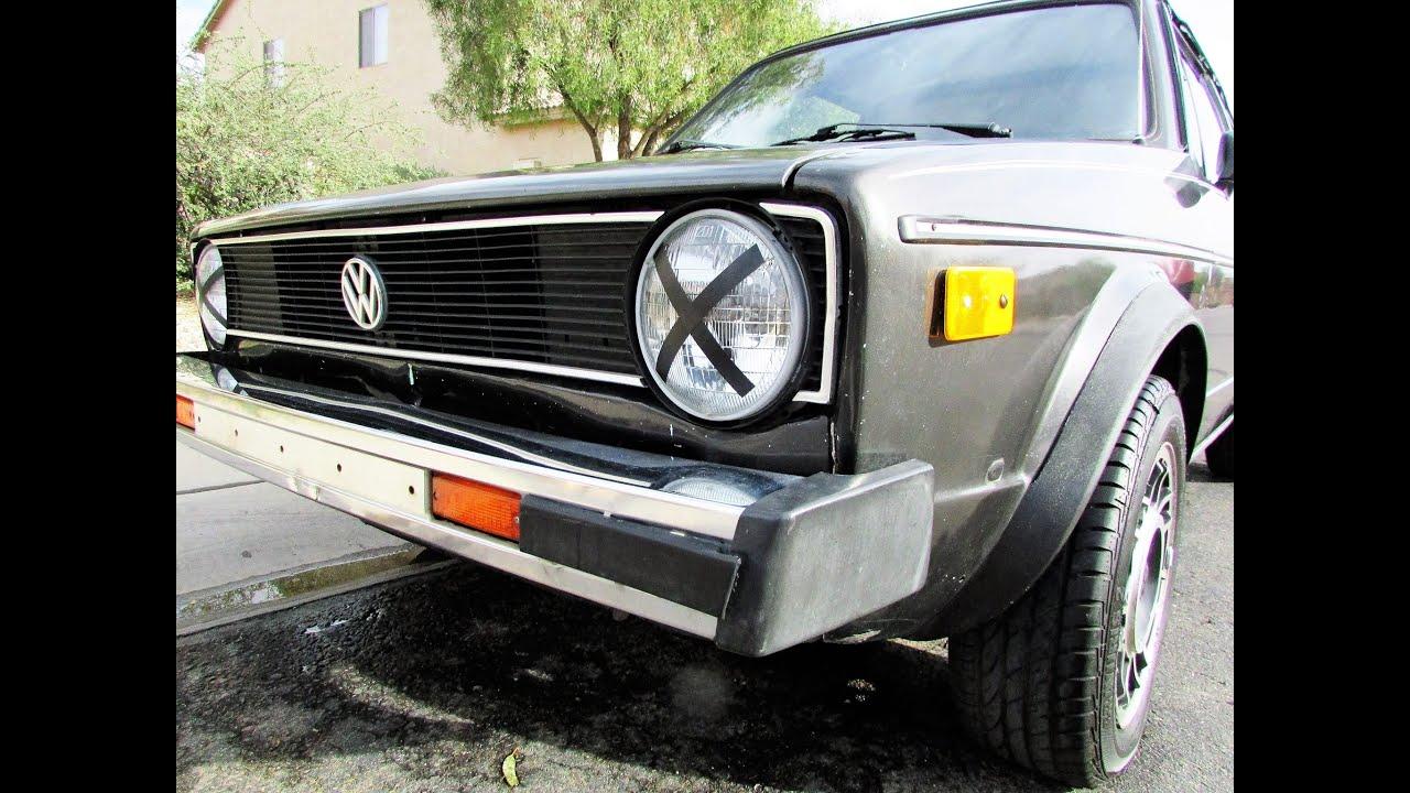 1987 Volkswagen Cabriolet Montage Youtube