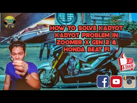 Motovlog|HOW TO SOLVE KADYOT KADYOT PROBLEM IN ZOOMER X GEN 2 AND HONDA BEAT FI|Byaherong Lagalag