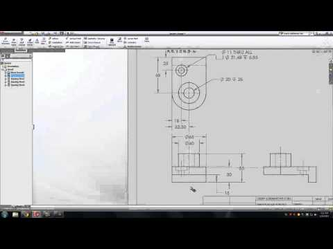 Solidworks: Dimension a Drawing Sheet