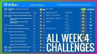NEW *LEAKED* WEEK 4 SEASON 9 CHALLENGES (Fortnite Battle Royale)