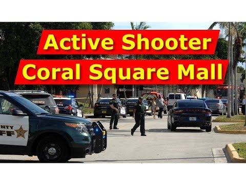 Scene of the Fatal Shooting at Coral Square Mall in Coral Springs, FL.